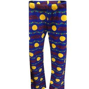 Eggo Lego My Eggo Christmas Lights Pajama Bottoms
